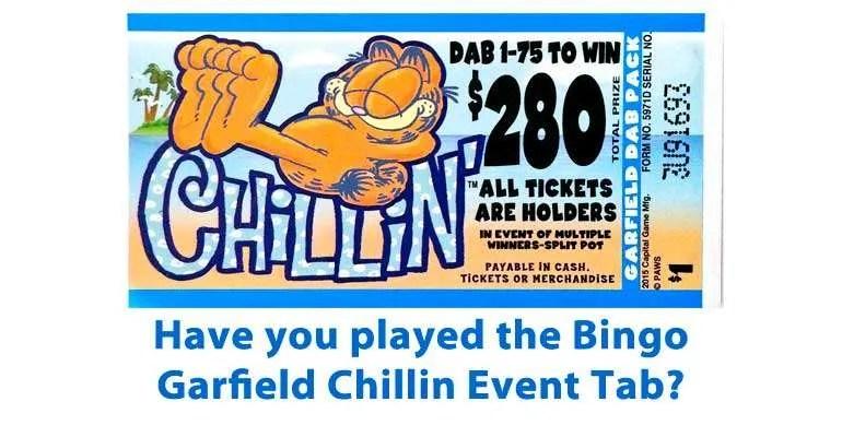 played the bingo garfield chillin event tab