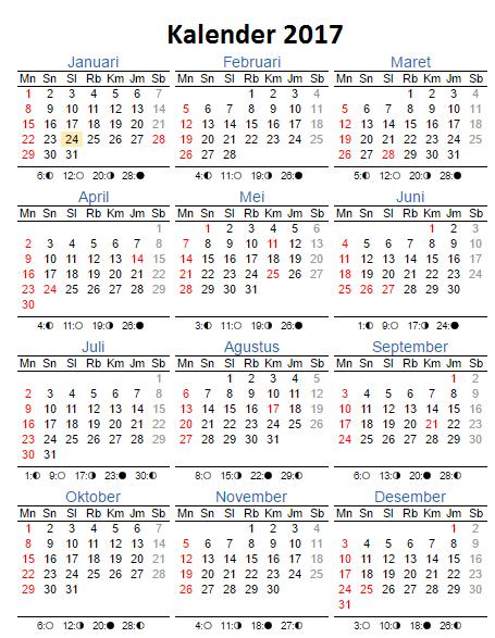 Kalender Nasional 2017 : kalender, nasional, Kalender, 2017,, Bersama, Serta, Libur, Nasional, Bingung