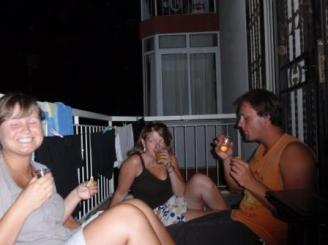 Tequila- Party auf dem Balkon