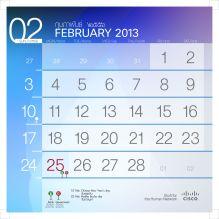 201302 number calendar