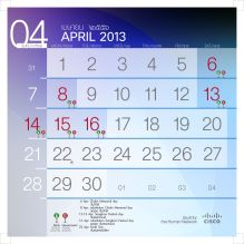 201304 number calendar
