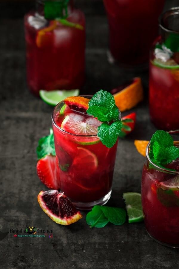 Strawberry Blood Orange Mojito
