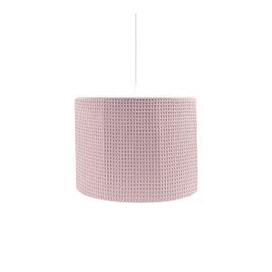 hanglamp van wafelstof in oudroze