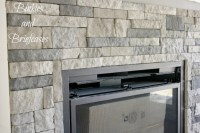 DIY Stone Fireplace with AirStone  Binkies and Briefcases