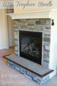How to Build a Floating Fireplace Mantle  Binkies and ...