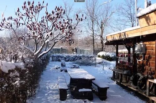 Den Garten im Winter nutzen