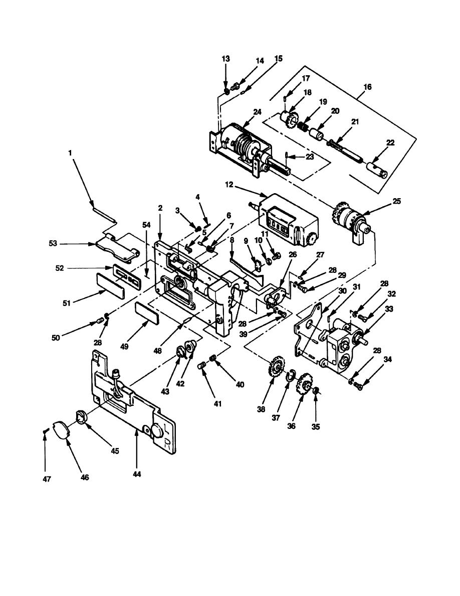 Figure B-6. Adapter Assembly 8587468 and Counter Assembly