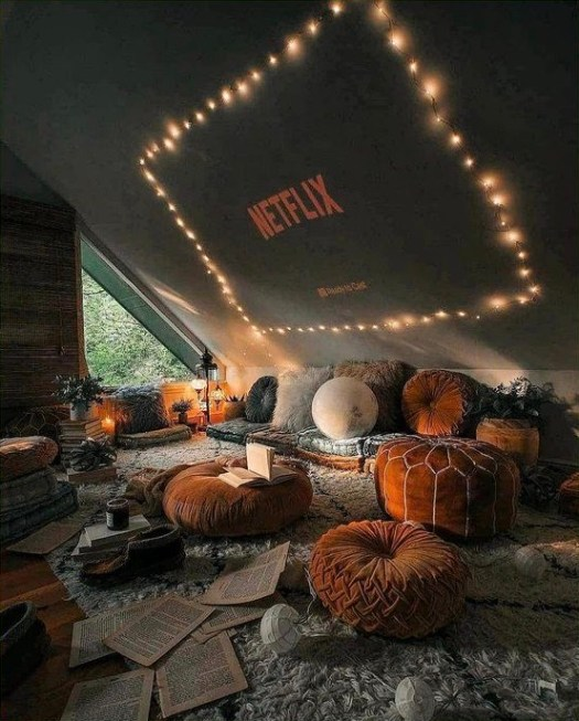 Netflix, movie night on Pinterest