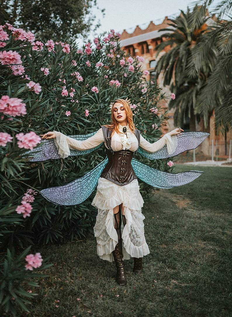 Dragonfly Fairy Wings Steampunk Costume.