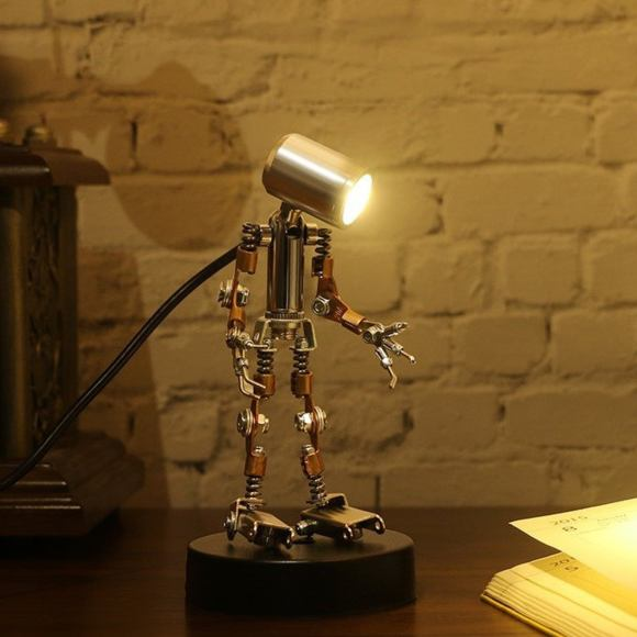 Robot Spotlight Steampunk Metal Model Puzzle Model Kit.⁣