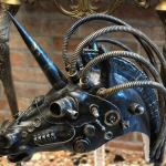 Steampunk Unicorn Mask, Carnival Mask, Halloween Mask