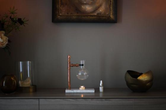 Steampunk Essential Oil Burner/Infuser. Created by MRBL LDN.