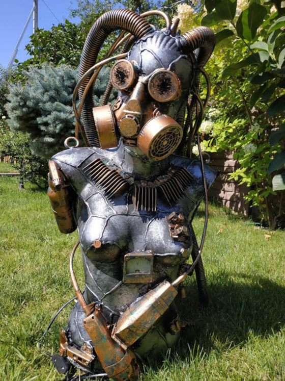 Steampunk Mannequin sculpture. Made to order by Alive Steel.