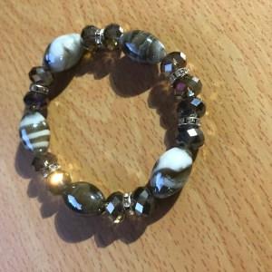 Bracelet en perle de verre bicolore
