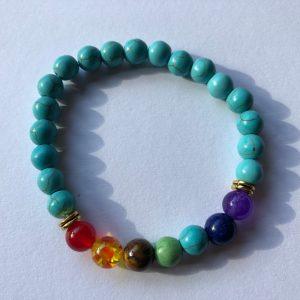bracelet turquoise chakras