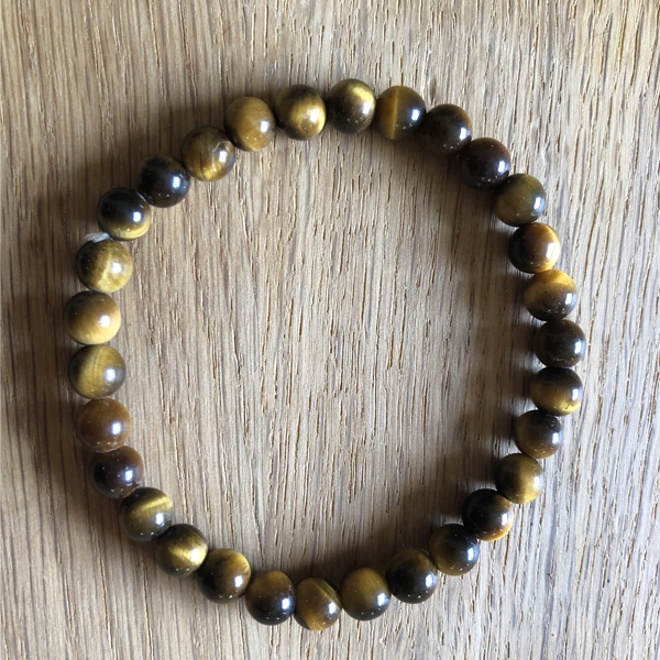 bracelet pierres oeil tigre