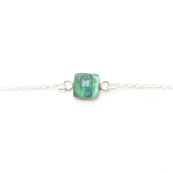 Bethe Silver Bracelet – Green