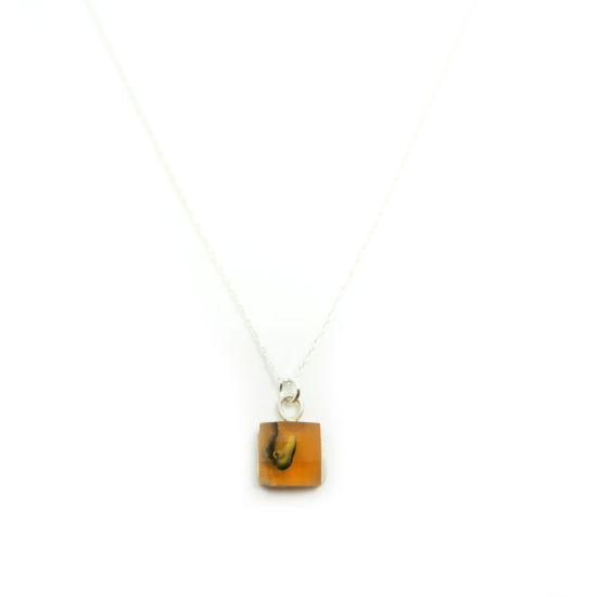 Bethe Silver Necklace – Orange