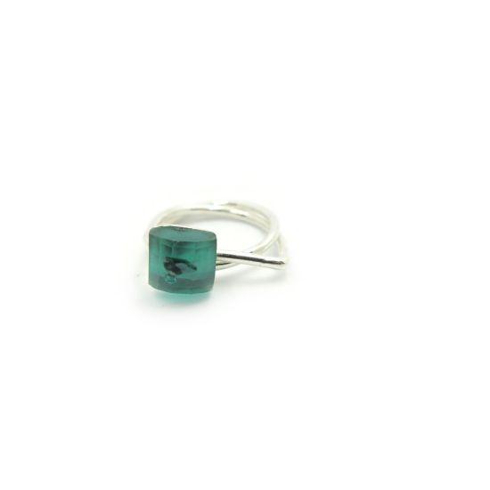 Bethe Silver U-Ring – Green