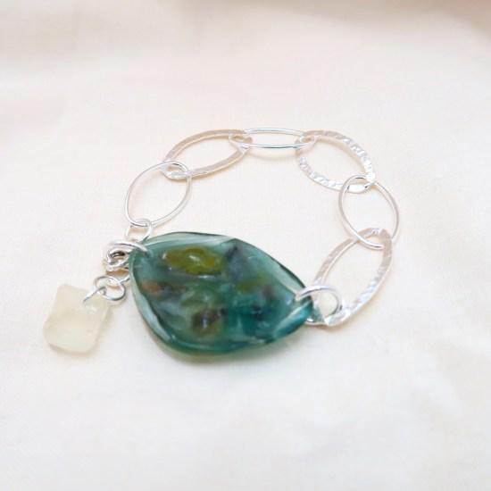 Boas Bracelet – Emerald/Silver