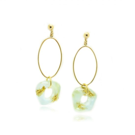 Carver Oval Earrings – Arctic