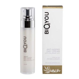 Natuurlijke anti-veroudering dag crème met Hyaluronzuur voor huidverzorging