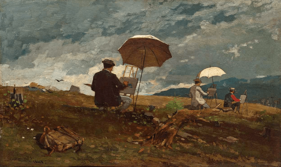 Winslow Homer Artists Sketching in the White Mountains, 1868, oil on panel (Portland Museum of Art, Portland, Maine)