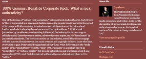 REBLOGGED: 100% Genuine, Bonafide Corporate Rock: What is rock authenticity?