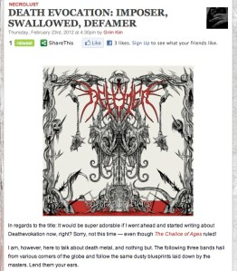 Metal Sucks gets into the new DEFAMER