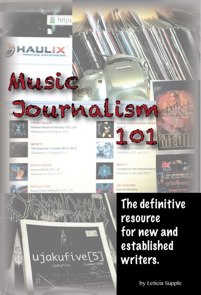 Music Journalism 101 book now available on Amazon.com  cover image