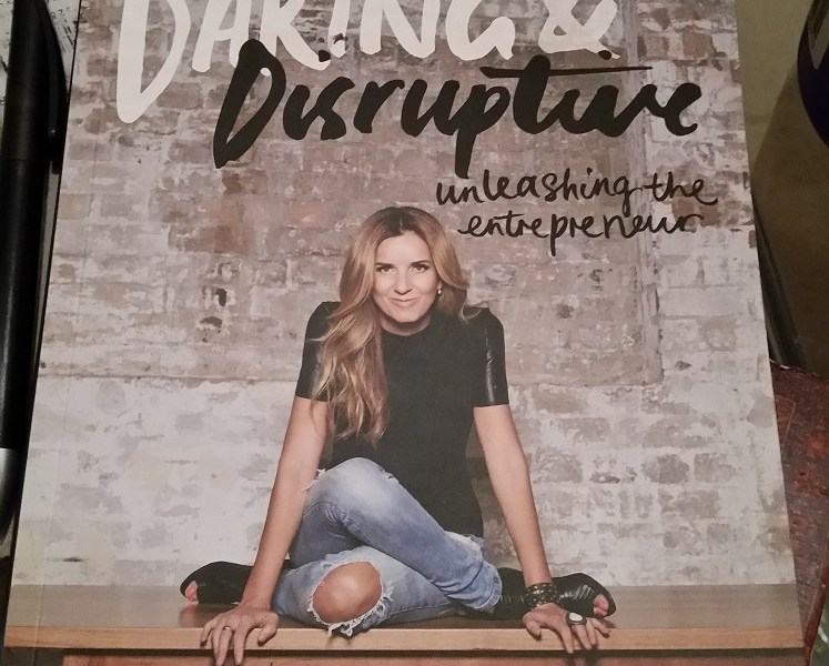 Photograph of the cover of the book, Daring and Disruptive by Lisa Messenger