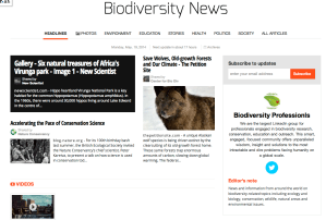 Read our Biodiversity News online newspaper