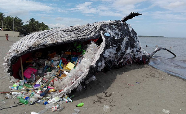 biodiversity photo sculpture campaign whale plastic greenpeace philippines vince cinches