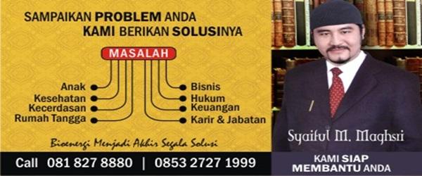 Konsultasi Masalah Bersama HM. Syaiful M. Maghsri