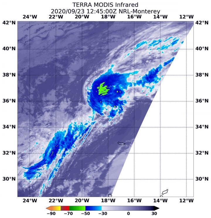 NASA's terra satellite confirms Paulette's second post-tropical transition