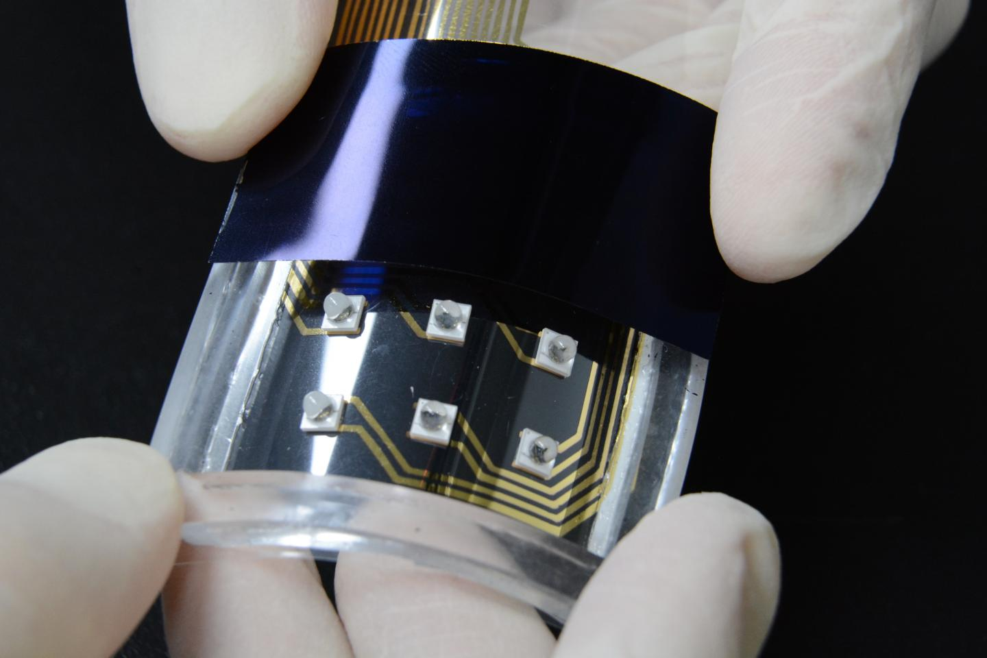 ETRI develops a haptic film activated by LEDs