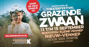 De BioExpress sluit aan bij de karavaan op het Grazende Zwanen festival