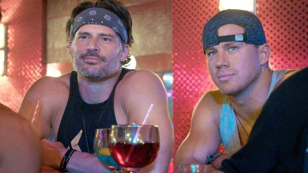 """(L-r) JOE MANGANIELLO as Richie and CHANNING TATUM as Mike in Warner Bros. Pictures', """"MAGIC MIKE XXL,"""" a Warner Bros. Pictures release. from Warner Bros. media pass"""