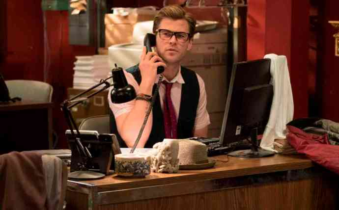 Kevin (Chris Hemsworth) in Columbia Pictures' GHOSTBUSTERS.