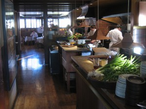 Chez Panisse Café kitchen, by emptyhighway via Flickr.