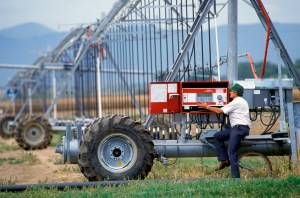 Irrigation scheduling. Photo: USDA-ARS