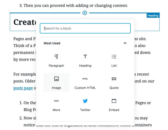 Opciones de bloqueo de WordPress para tutoriales de WordPress