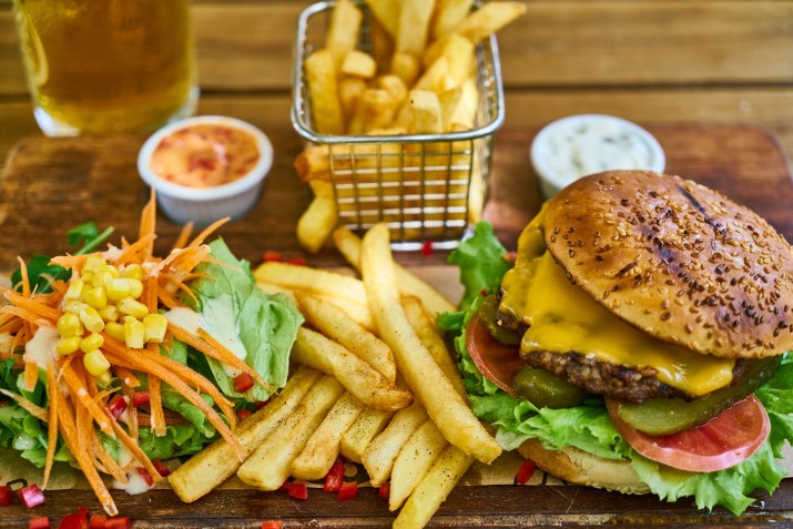 Delicious burgers can be plant-based or animal-based.
