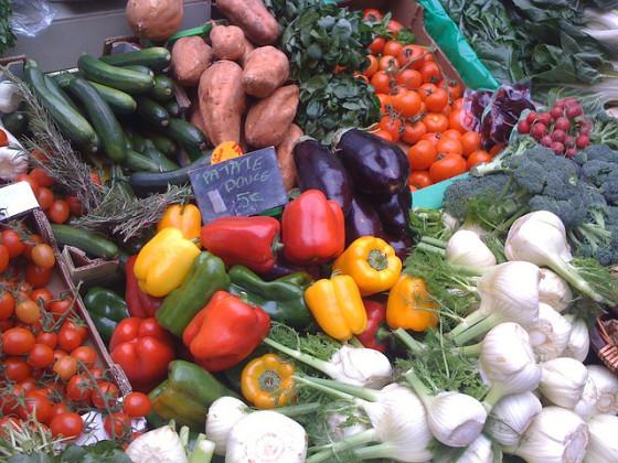 Organic Sunday Market in Paris