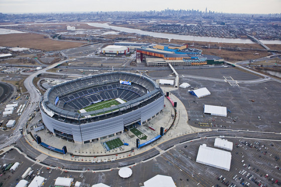 MetLife Stadium green Super Bowl XLVIII