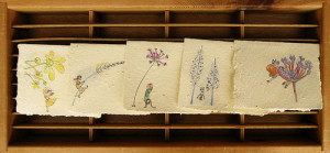 Handmade seeded paper cards