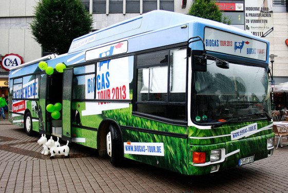 biogas tour bus