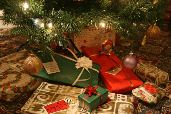 Christmas presents under the tree image by Alan Cleaver via Flickr Creative Commons license.