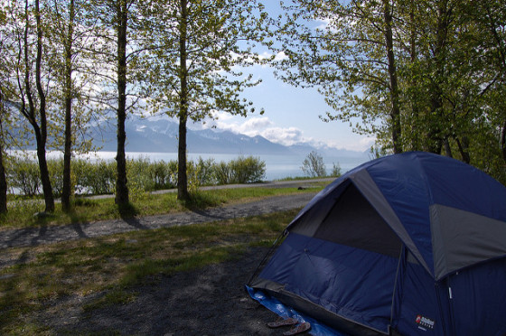 Campsite image by Cathy Stanley-Erickson via Flickr Creative Commons license.