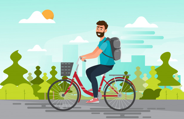 riding a bike image